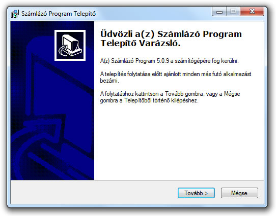 Telepites 3 - Szamlazo-program-telepito-varazslo